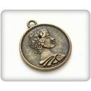 Металлическая подвеска Старинная монета 23х20мм
