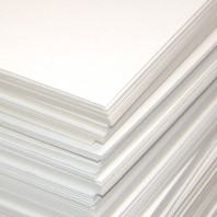 Пивной картон, 20 х 30 см, толщина 1,25 мм, цвет белый