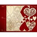 Набор для скрапбукинга 'Сердца 3'