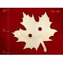 Деревянная пуговица в виде клена, 25 мм, 1 шт.