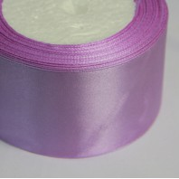 Лента атласная  однотонная светло-фиолетовый, 50мм,  1м.