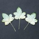 Набор бумажных листьев клена, цвет - зеленый/светло-желтый, 10 шт