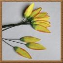 Набор бумажных листьев розы, цвет зеленый, 15 мм, 6 шт