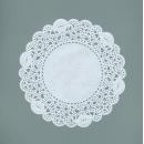Ажурные декоративные салфетки, диаметр 120 мм,   10шт