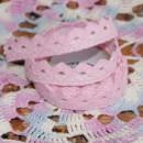 Кружево хлопковое на клеевой основе, цвет - нежный розовый, 2 м