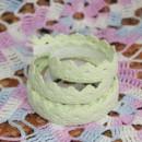Кружево хлопковое на клеевой основе, цвет - салатовый, 2 м