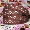 Кружево хлопковое на клеевой основе, цвет шоколадный, 2 м