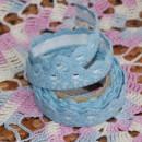 Кружево хлопковое на клеевой основе, цвет - голубой,   1.8 м