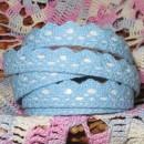 Кружево хлопковое на клеевой основе, цвет голубой, 2 м