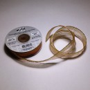 Капроновая лента  - св.персиковый/золото, ширина 20мм, 1м