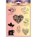 Набор силиконовых штампов 'Валентинов день'