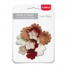 Набор бумажных цветочков Дизайн 1, 20 штук